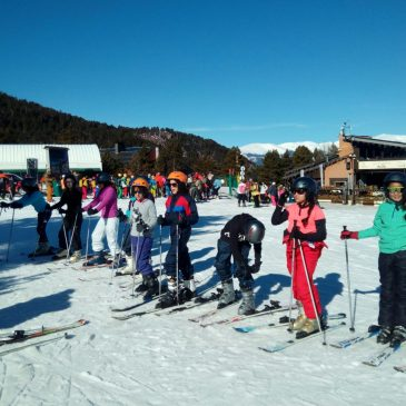 Disfrutando del esquí/snow